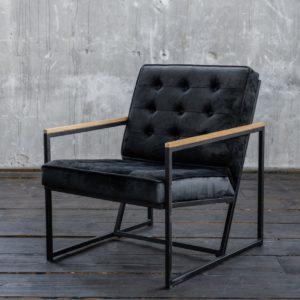 KAWOLA Sessel ARLY Polstersessel Bezug Velvet schwarz
