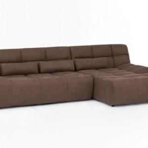 KAWOLA Ecksofa SETO Big Sofa Recamiere rechts Microfaser braun