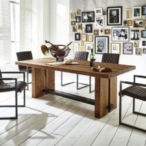 KAWOLA Esstisch NERES Tisch Eiche massiv 180x100cm