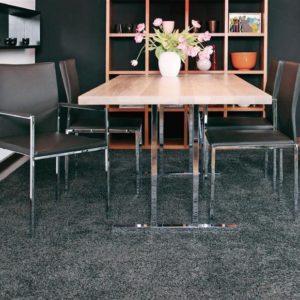 KFF Stuhl Nivo Gestell rechteckig Mattchrom / Leder Farbe wählbar