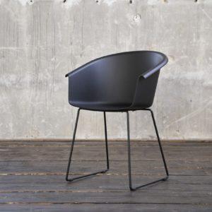 KAWOLA Stuhl GISY Esszimmerstuhl Kunststoff schwarz