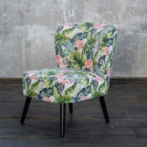 KAWOLA Sessel MINGO Bezug Velvet Flamingo