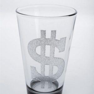 KARE Longdrink - Glas Rich Life - Dollarzeichen 6 Stk.