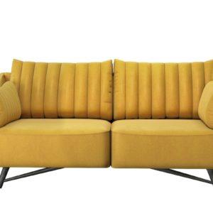 KAWOLA Sofa CELIA 2,5-Sitzer Stoff gelb