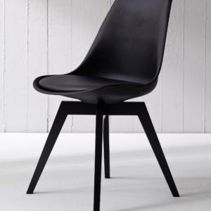 Tenzo Stuhl BESS schwarz/schwarz 2er Set