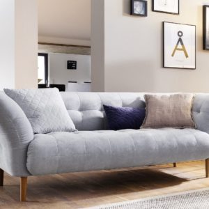 KAWOLA Sofa NALA 2-Sitzer Stoff light blue 200x97x79cm (B/T/H)