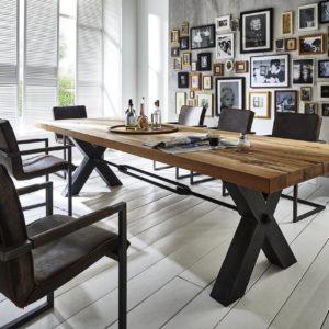 KAWOLA Esszimmertisch SASNA Tisch Eiche massiv 240x100cm