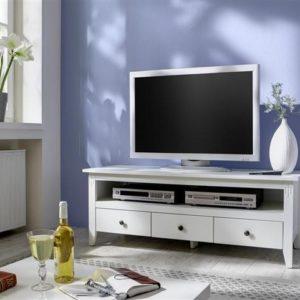 SIT Annika Lowboard / TV- Bank 3 Schubladen Birke weiß