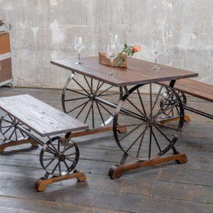 KAWOLA Essgruppe REFINA mit Tisch und 2x Bank