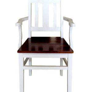 SIT SIENA Holzstuhl mit Armlehne - Akazie antikweiß
