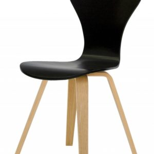 Tenzo Stuhl TEQUILA RIEL schwarz / eiche 4er Set 9122-854