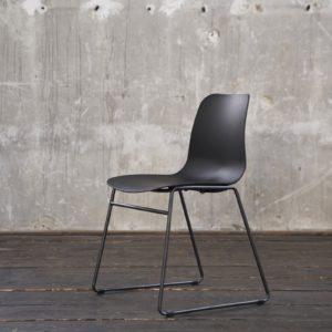 KAWOLA Stuhl DENNIS Esszimmerstuhl Kunststoff schwarz