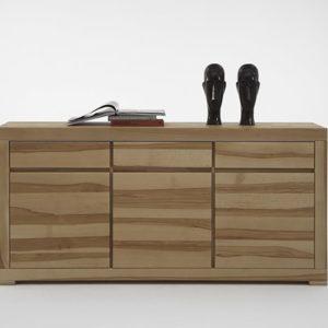 SIT Max Sideboard mit 3 Holztüren, 3 Schubladen - Kernbuche