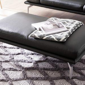 KAWOLA Lederhocker KIMI Leder schwarz 120x70