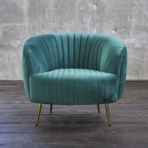 KAWOLA Sessel NORLO Polstersessel Stoff velvet grün