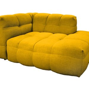 KAWOLA Chaiselongue ROSARIO Ottomane Recamiere rechts gelb