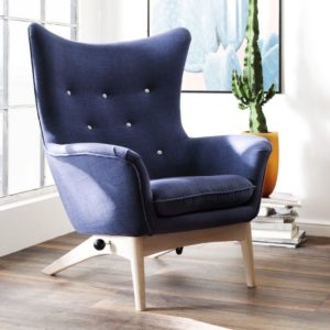 KAWOLA Sessel FELIO Polstersessel mit Kippfunktion Stoff blau