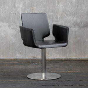 KAWOLA Stuhl PUNE Esstimmerstuhl Drehstuhl Besprechungsstuhl schwarz