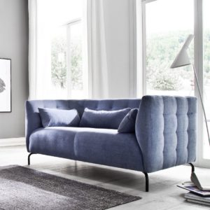 KAWOLA 2-Sitzer Sofa COONIE Stoff blau