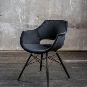 KAWOLA Stuhl ZAJA Esszimmerstuhl Velvet schwarz