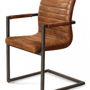 6x Stuhl Lexo Esszimmerstuhl Kunstleder Freischwinger braun