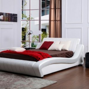 Polsterbett weiß 140 x 200 cm HONEYMOON - Kasper Wohndesign