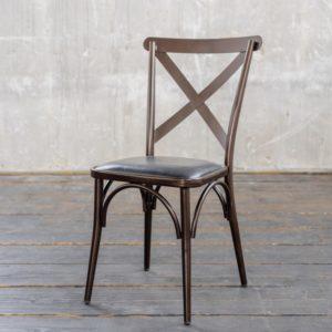 KAWOLA Esszimmerstuhl KINE Stuhl Metall Kupfer