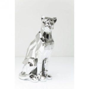 KARE Deko Figur Sitting Cat Rivet Chrome