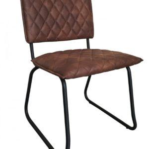 6x Stuhl Keda Esszimmerstuhl Kunstleder braun