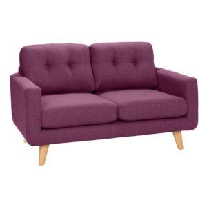 KAWOLA 2-Sitzer ALEXO Sofa Stoff rosa