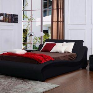 Polsterbett schwarz 140 x 200 cm HONEYMOON - Kasper Wohndesign