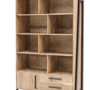 KAWOLA Bücherregal SELMO Regal aus Akazienholz