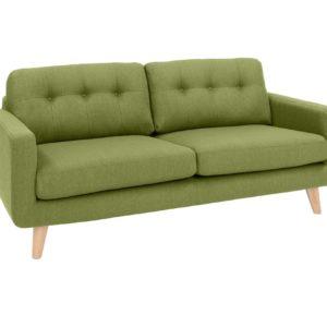 KAWOLA 3-Sitzer ALEXO Sofa Stoff grün