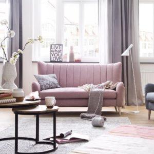 KAWOLA 3-Sitzer SETTA Sofa Stoff rosa
