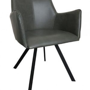 6x Stuhl Charles Esszimmerstuhl Kunstleder grau
