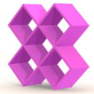 Tenzo SMART Regal Cross rosa lackiert
