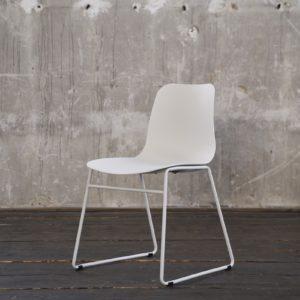 KAWOLA Stuhl DENNIS Esszimmerstuhl Kunststoff weiß
