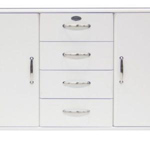 Tenzo Sideboard Malibu 5236 - 2 Türen / 4 Schubladen - Weiß