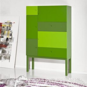 Tenzo Color-Schrank, 5 Türen/2 Schubladen - Grün
