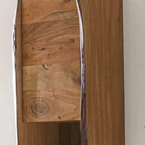 KAWOLA Badezimmer Hänge-Schrank Loft Edge Akazie Massiv-Holz Baumkante B/H/T: 40x70x20cm