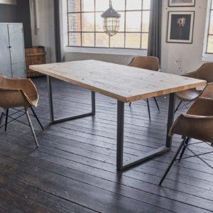 KAWOLA Tisch FREY Esszimmertisch Wildeiche massiv 180x90cm / gerade Kante