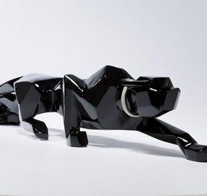 KARE Deko-Figur Panther - Black 185