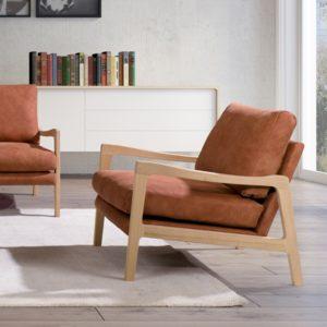 KAWOLA Sessel RODRIGUEZ Relaxsessel Leder orange