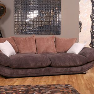 KAWOLA Sofa ROSA Megasofa Stoff kakao braun 300x94x145cm (B/H/T)
