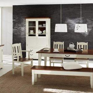 SIT Siena Esstisch mit Ansteckplatten - Akazie antikweiß