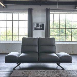 KAWOLA Sofa AVISTA 2,5 Sitzer Leder anthrazit