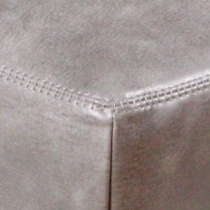 KAWOLA Hocker OPRA Leder Toledo Farbe silvergrey grau