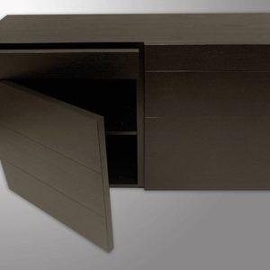 Tenzo Kommode / Sideboard Basso 150 cm dunkelbraun 1A-Ware