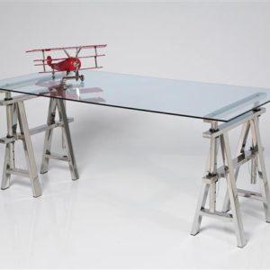 KARE Architekten-Schreibtisch Pintor - 160 x 80 cm - Glas