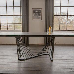 KAWOLA Esszimmertisch ELOISE Tisch Keramik schwarz/grau